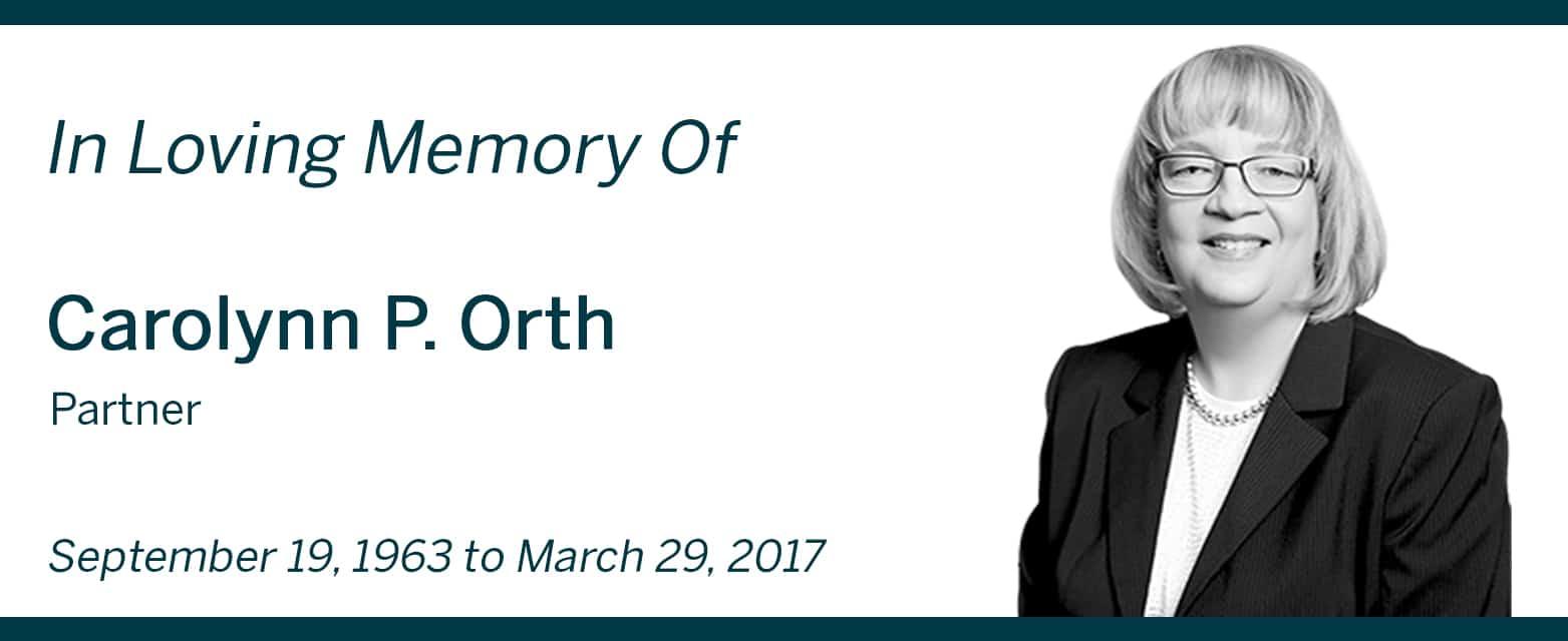 Carolynn Orth news post